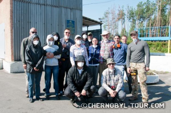 """Группа экологов """"Чернобыль-ТУР"""" на могильнике радиоактивной техники """"Буряковка"""""""